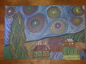 Starry Starry Night Vincent Van Gogh Art June 2009 (2)